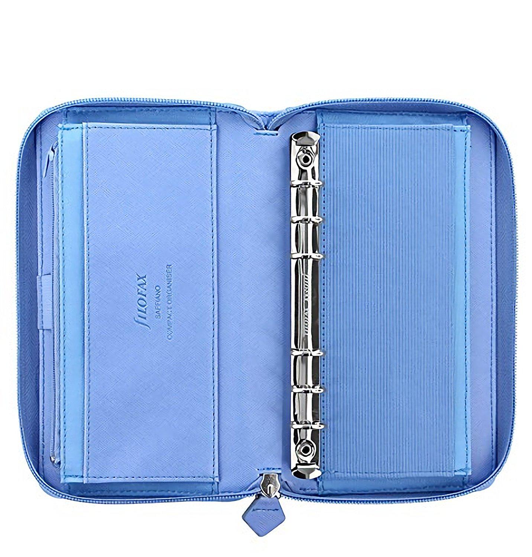 Filofax Agenda Organizer Saffiano Compact Zip Blu