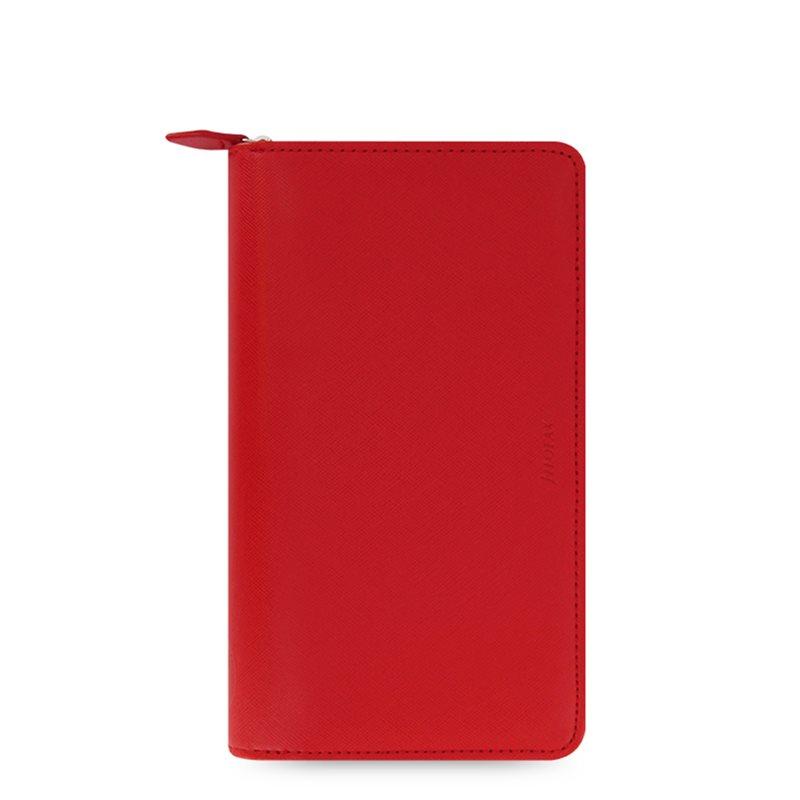 Filofax Agenda Organizer Saffiano Compact Zip Rosso