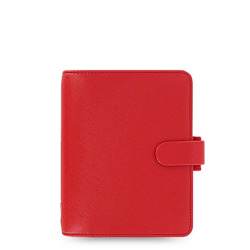 Filofax Agenda Organizer Saffiano Pocket Rosso