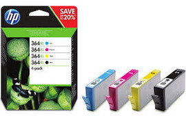 HP 364XL CMYK INK CARTRIDGE COMBO 4-Pack