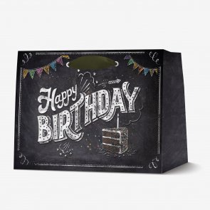 LEGAMI SACCHETTO REGALO HAPPY BIRTHDAY XLARGE HB CHALKBOARD