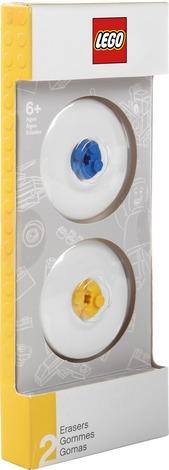 LEGO Gomme Blu & Gialla. Confezione 2 pezzi