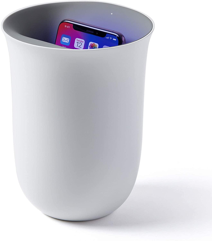 Lexon OBLIO - Stazione di ricarica wireless + igienizzatore UV,
