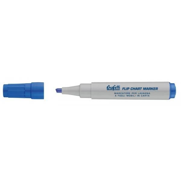 Marcatore blu per lavagne a fogli mobili con punta tonda e tratto 1.3 mm Buffetti