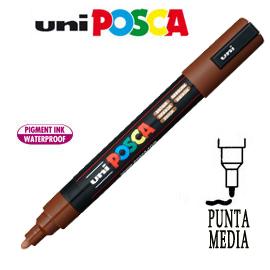 Marcatore UNI POSCA PC5M punta media 1,8 - 2,5 mm marrone UNI MITSUBISHI