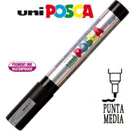 Marcatore UNI POSCA PC5M punta media 1,8 - 2,5 mm argento UNI MITSUBISHI