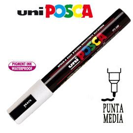 Marcatore UNI POSCA PC5M punta media 1,8 - 2,5 mm bianco UNI MITSUBISHI
