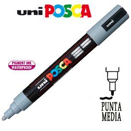 Marcatore UNI POSCA PC5M punta media 1,8 - 2,5 mm grigio UNI MITSUBISHI