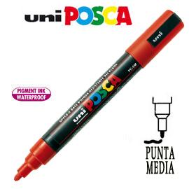 Marcatore UNI POSCA PC5M punta media 1,8 - 2,5 mm rosso UNI MITSUBISHI