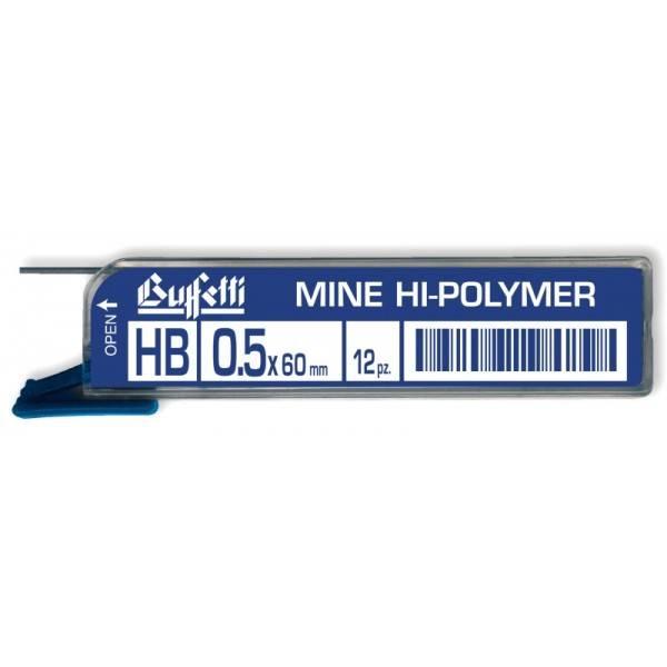 Mine Hi Polymer Tratto 0,5 mm Gradazione HB 12 pz Buffetti
