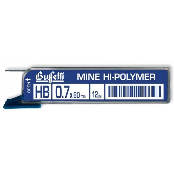 Mine Hi Polymer Tratto 0,7 mm Gradazione 2H Buffetti