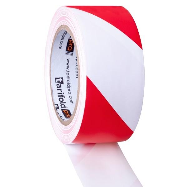 Nastro bianco-rosso - altezza rotolo 50 mm x 33 mt di lunghezza