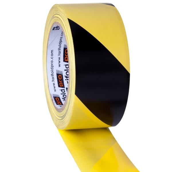 Nastro giallo-nero - altezza rotolo 50 mm x 33 mt di lunghezza