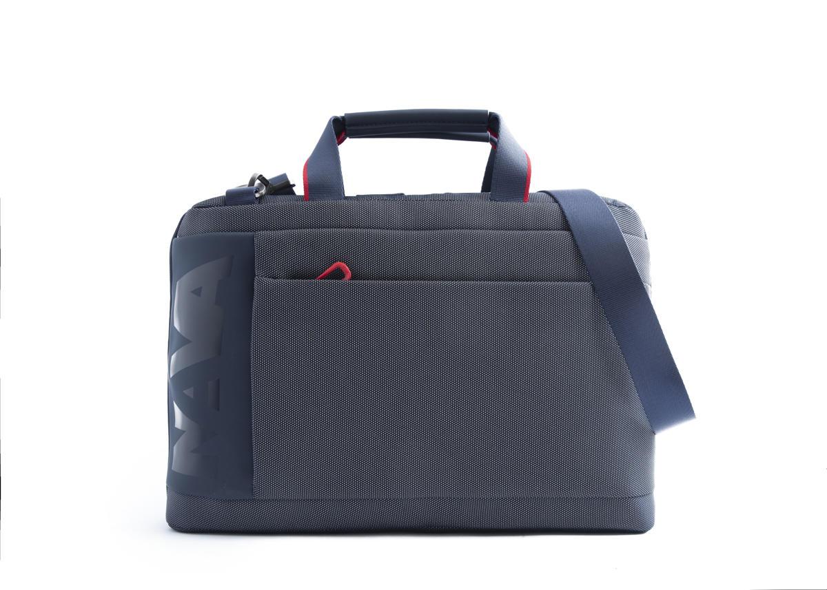 Nava Cartella Cross con 2 manici e tracolla amovibile, porta PC e iPad Blu - Rosso
