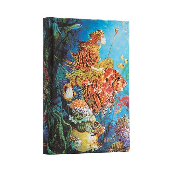 Paperblanks Agenda MIDI 12 mesi giornaliera 2021 Fantasie del mare