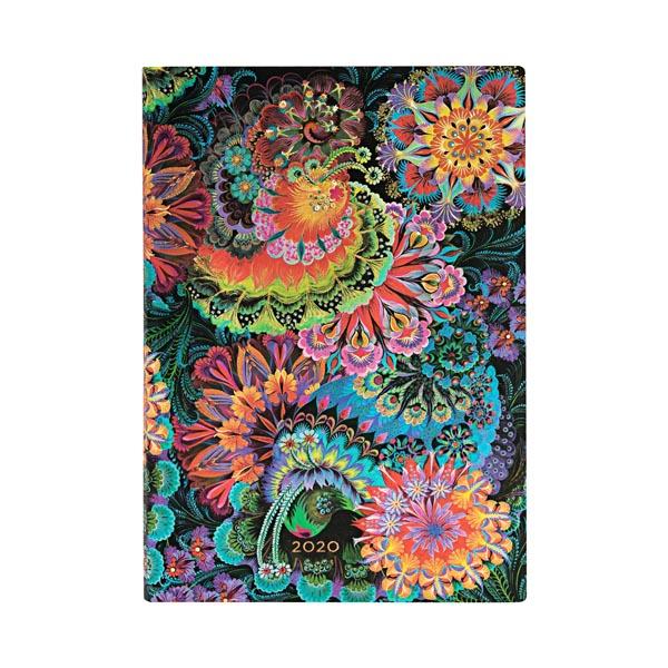 Paperblanks Agenda Midi Settimanale Orizzontale 12 mesi 2020 senza chiusura Multicolore