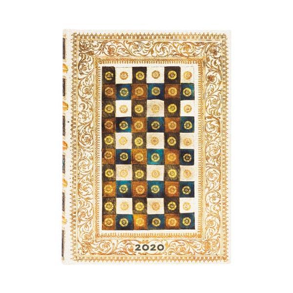 Paperblanks Agenda Mini Giornaliera 12 mesi 2020 con chiusura fascia elastica Beige