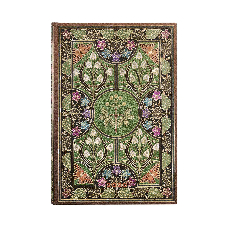 Paperblanks Agenda Mini Giornaliera 12 mesi 2020 con chiusura fascia elastica Verde