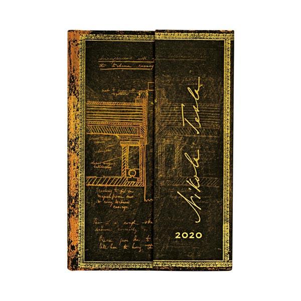 Paperblanks Agenda Mini Giornaliera 12 mesi 2020 con chiusura magnetica Marrone