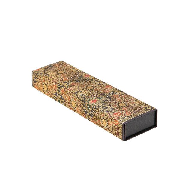 Paperblanks Astuccio Rigido Fiori di Fuoco con chiusura magnetica Marrone