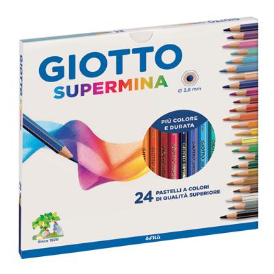 Pastelli Giotto Supermina  Astuccio 24 pezzi Tratto 3,8 mm