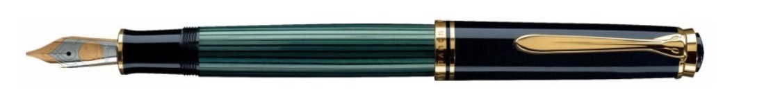 Pelikan Souveran M800 Green e Black fountain pen - stilografica