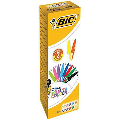PENNA BIC CRISTAL MULTICOLOR 1,6 ASSORTITO CF 20 pz