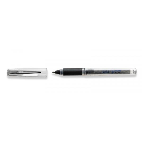 Penna Roller superfluid nero con cappuccio punta fine 0.7 mm Buffetti