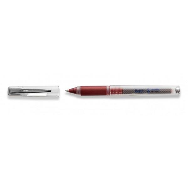 Penna Roller superfluid rosso con cappuccio punta fine 0.7 mm Buffetti