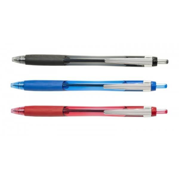 Penna sfera a scatto rosso tratto fino 1.0 mm Buffetti