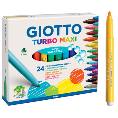 Pennarelli GiottoTurbo Maxi Astuccio 24 pezzi