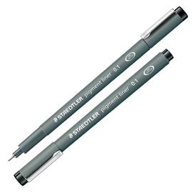 Pennarello Pigment Liner 308 nero 0,1mm Staedtler