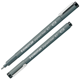 Pennarello Pigment Liner 308 nero 0,7mm Staedtler