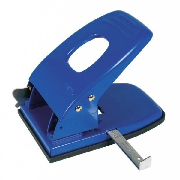 Perforatore a 2 fori capacità perforazione 45 fogli blu Buffetti