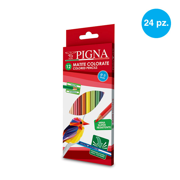 Pigna 12 pastelli colorati 3mm