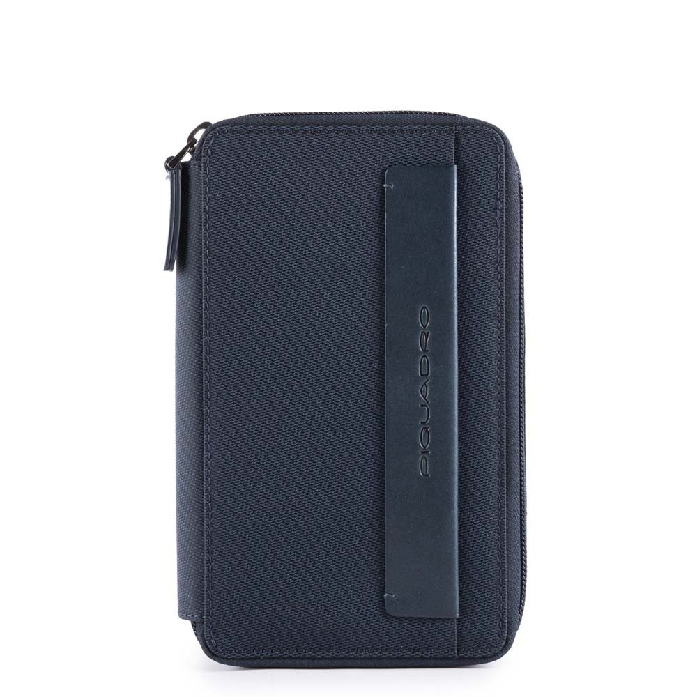 Piquadro Astuccio Urban Portafoglio, Portacavi accessorio nylon in pelle Blu