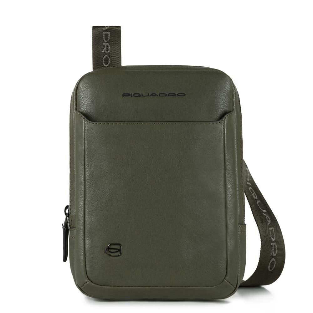 Piquadro Borsello Black Square organizzato con scomparto porta iPad®mini Verde oliva