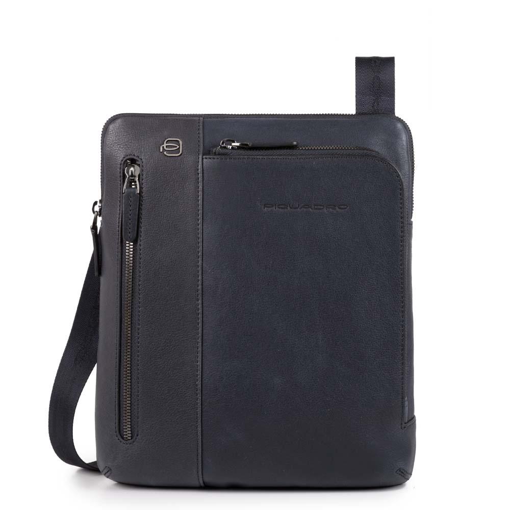 Piquadro Borsello Black Square porta iPad® Blu Notte