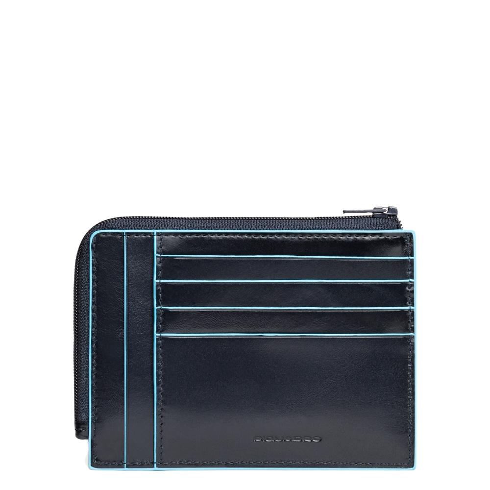 Piquadro Bustina Blu Square portamonete documenti Blu