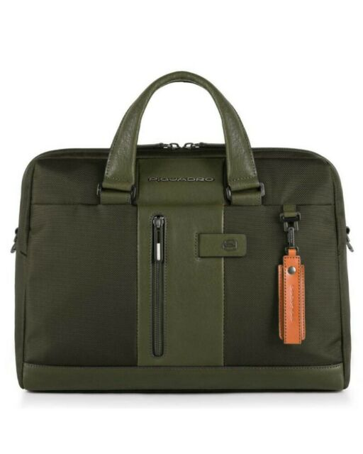 Piquadro Cartella a due manici Brief porta computer-iPad® con CONNEQU e RFID Verde