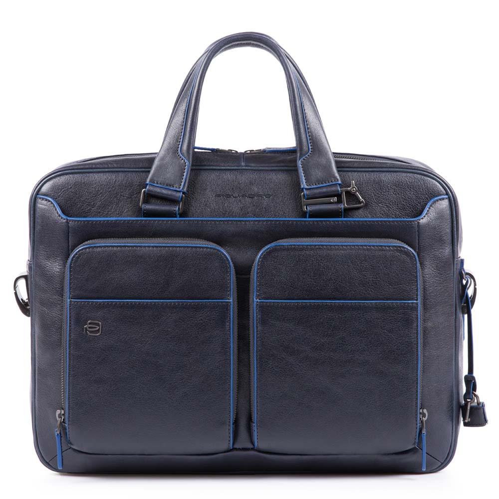 Piquadro Cartella B2S sottile porta computer e porta iPad® blu