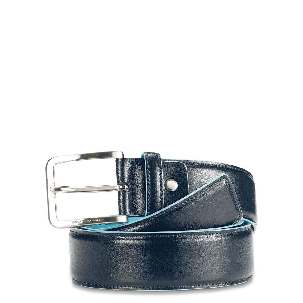 Piquadro Cintura uomo Blue Square con fibbia ad ardiglione Blu notte