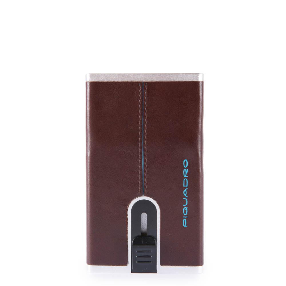 Piquadro Compact wallet per banconote e carte di credito Blue Square Mogano