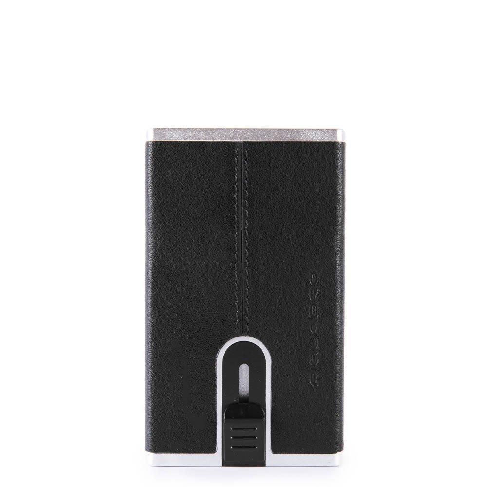 Piquadro Compact wallet per banconote e carte di credito Blue Square Nero
