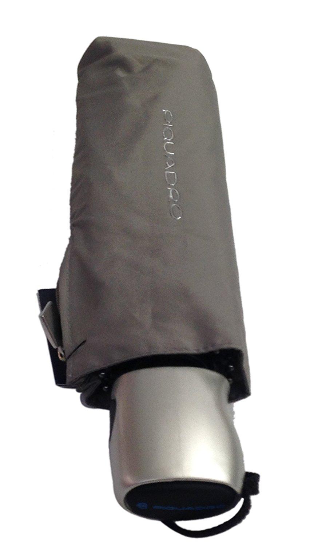 Piquadro Ombrello Richiudibile Automatico Piatto Grigio