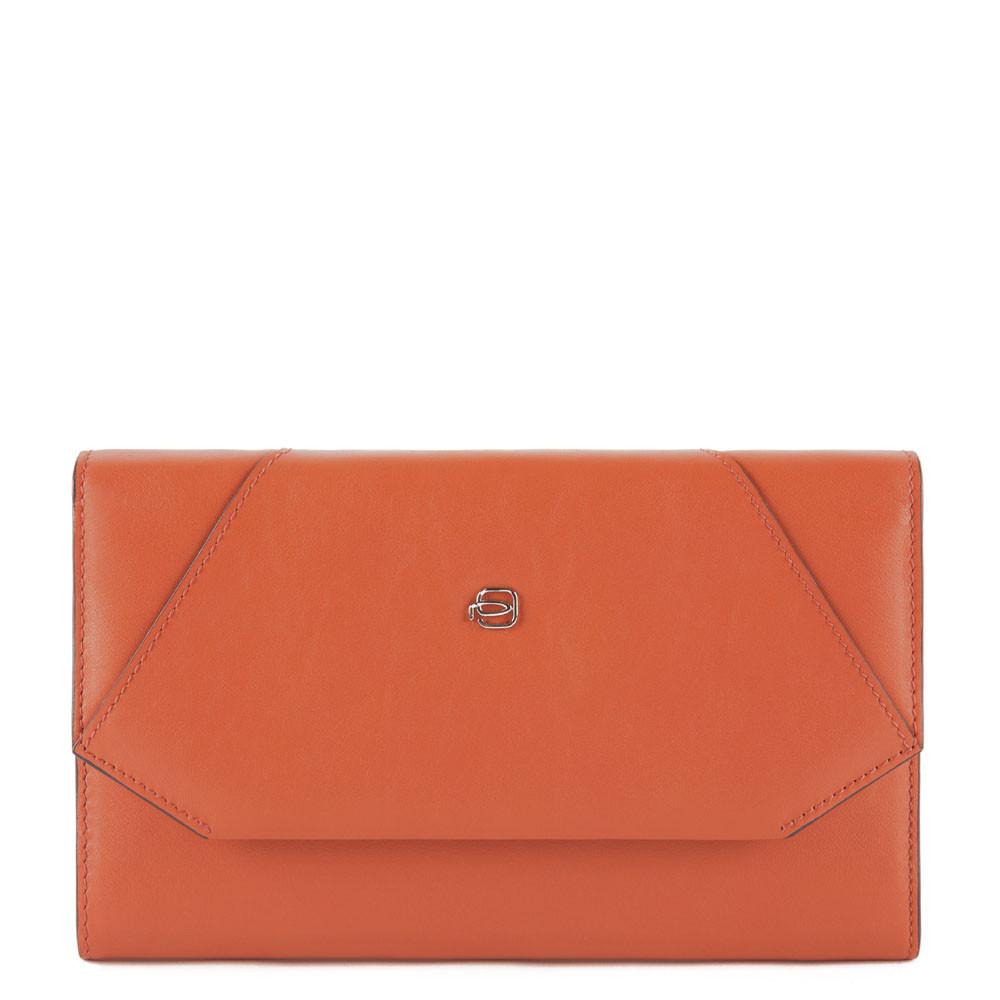 Piquadro Pochette porta smartphone con porta carte Muse Arancio