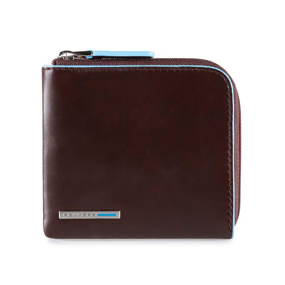 Piquadro Porta Carte Di Credito Blue Square RFID Protected Mogano