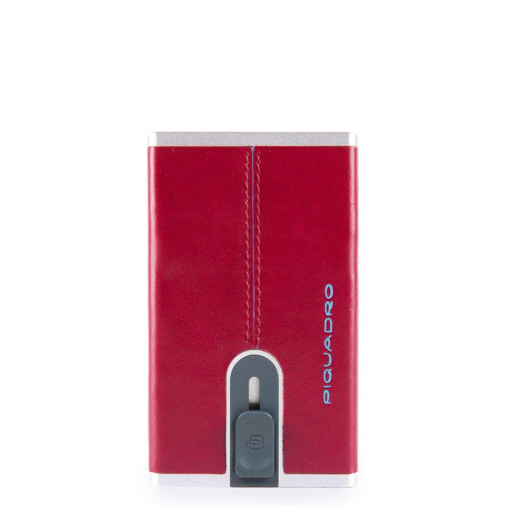 Piquadro Porta carte di credito con sliding system Black Square Rosso