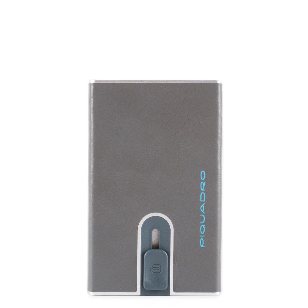 Piquadro Porta carte di credito con sliding system Blue Square Grigio