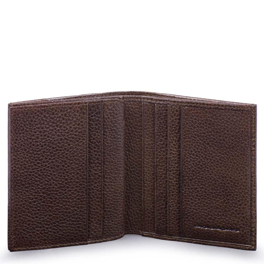 Piquadro Porta carte di credito P15S in pelle Testa di Moro